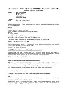 Zápisy z jednání rady
