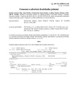 Usnesení o odročení dražebního jednání