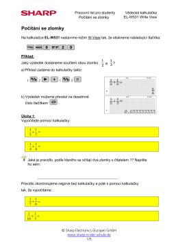 PL1: Pravidla počítání se zlomky