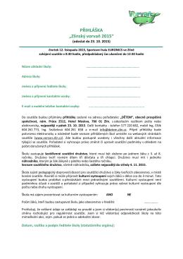 Přihláška v pdf - Zlínský Vorvaň