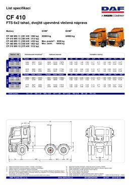 CF 410 - DAF Trucks CZ