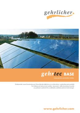 gehrtec BASE - Gehrlicher Solar