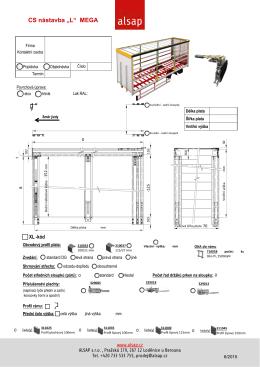 Objednávkový formulář na CS nástavby L