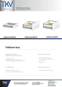 Katalog Tekform Box stáhnout