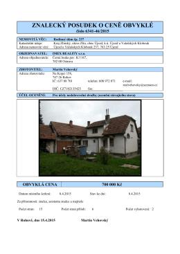 6341-46-2015 - tržní RD Újezd dražba IMEX