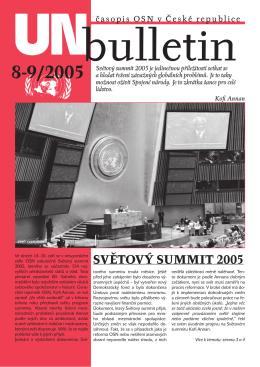 UNbulletin číslo 8-9/2005 - Informační centrum OSN v Praze United