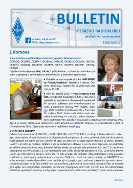 Bulletin ČRK č. 6/2015