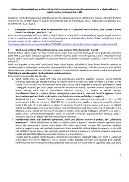 Hodnocení pozměňovacích návrhů k zákonu o registru smluv