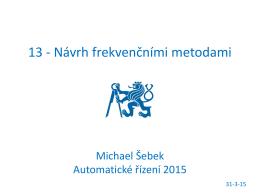 13 - Návrh frekvenčními metodami