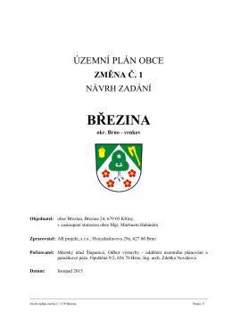 NÁVRH ZADÁNÍ - Obec Březina
