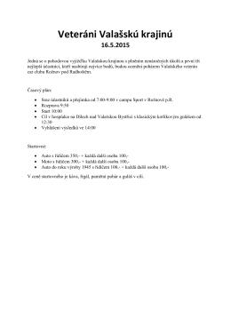 Veteráni Valašskú krajinú 16.5.2015