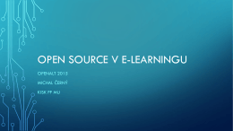 Open source v e-learningu