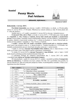 červen 2015 - Řád maltézských rytířů
