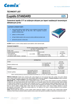 Cementové lepidlo Cemix Standard 025