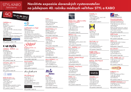 Navštívte expozície slovenských vystavovateľov na jubilejnom 40