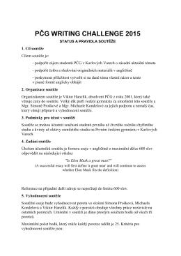 2015_PČG Writing challenge