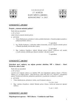 Usnesení - Statutární město Liberec