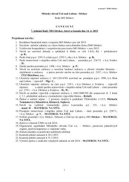 Usnesení 7. RMO Střekov 14.4.2015