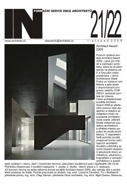 Architect Award 2009 - Informační servis OA