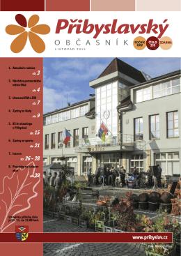 Přibyslavský občasník listopad 2015