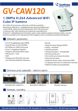 1.3MPix H.264 Advanced WiFi Cube IP kamera