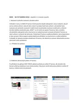EMOS WI-FI IP KAMERA H2314 – doplněk č.1 k návodu k použití. 1