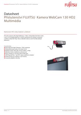Datasheet Příslušenství FUJITSU Kamera WebCam 130 HD2