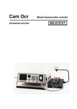 CamOcr - modul kamerového snímání