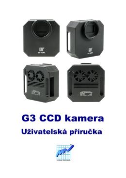 Uživatelská příručka kamer G3 CCD