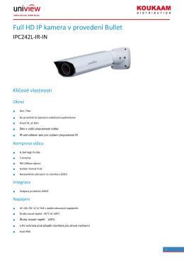 Full HD IP kamera v provedení Bullet
