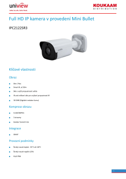 Full HD IP kamera v provedení Mini Bullet