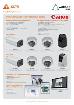 IP kamery Canon - Alarmy