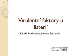 Virulentní faktory u listerií