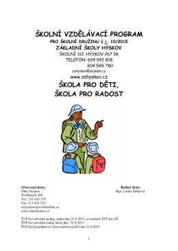 ŠVP pro ŠD - Základní škola Hýskov