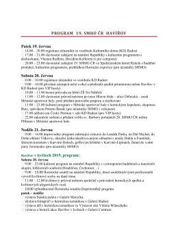 Program 19. SHMO ČR