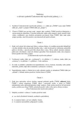 Směrnice o užívání symbolů Českomoravské myslivecké jednoty, z. s .