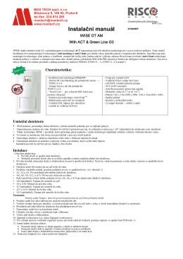 Instalační manuál - Alarm Absolon, spol. s .ro
