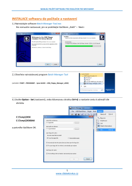 INSTALACE softwaru do počítače a nastavení
