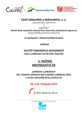 Propozice soutěže - Střední škola stavebních řemesel Brno