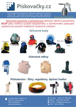 Ochranné kukly Ochranné oděvy Příslušenství