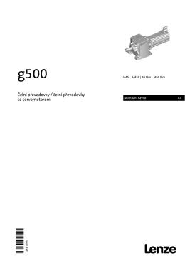 Montážní návod g500-H bevel gearbox with servo motor