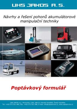 Poptávkový formuláø pohonu