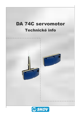 DA 74C servomotor - SKOV-a-S