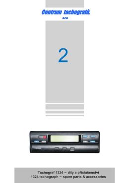 Tachograf 1324 – díly a příslušenství