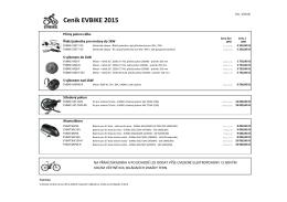 Ceník EVBIKE 2015