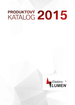 Produktový katalog 2015 ( *, 11 MB) - ELEKTRO