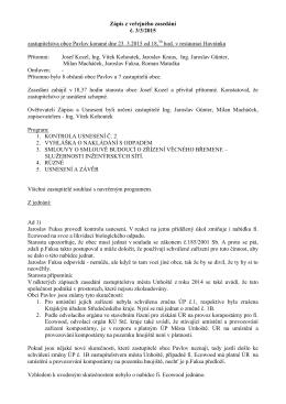 Zápis VZ č.3_2015 + Usnesení veřejného zasedání