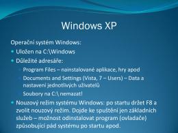 Windows XP - příslušenství
