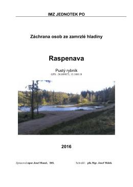 IMZ – Záchrana osoby z ledu 2016 – Raspenava, Pustý rybník-1