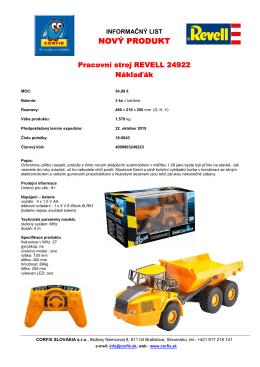 Pracovní stroj REVELL 24922